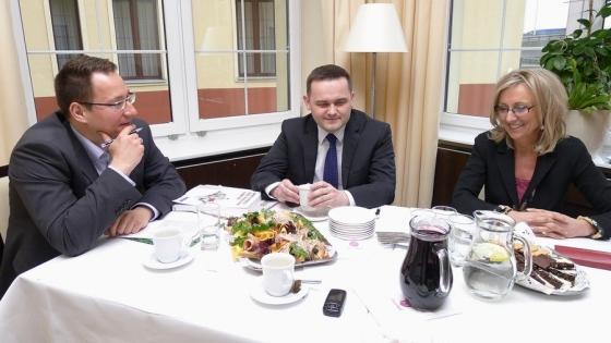 Michał Abkowicz, Krzysztof Wojtowicz, Katarzyna Koroch /fot.: KZ /