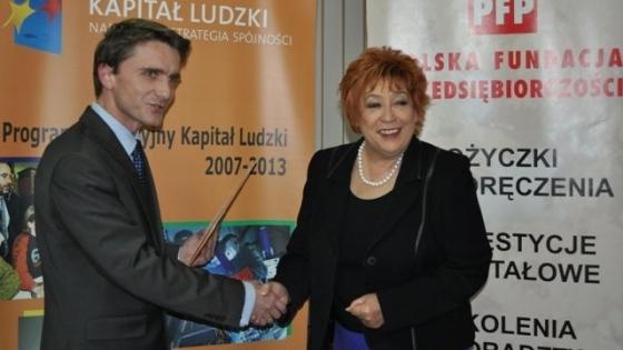 Prezes PFP B. Bartkowiak i dyrektor WUP A. Przewoda /fot.: archiwum /